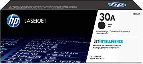 HP 30A CF230A Cartuccia Toner Originale, Compatibile con Stampanti LaserJet Pro M203DN, M203DW; HP LaserJet Pro M227FDN, M227FDN, M227FDW, M227SDN, Standard, Nero