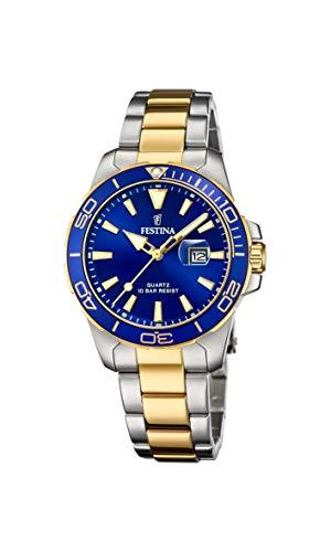Festina Damen Analog Quarz Uhr mit Edelstahl Armband F20504/1