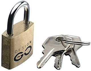 Go-Travel 20mm Luggage Lock, Brass, 170