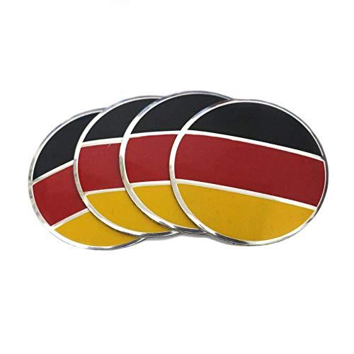 56.5 mm Taille Drapeau de l'Allemagne Centre de roue caches Hup Emblème Aluminium 3d en forme de dôme Autocollant de drapeau Graphic décalcomanies badge pour véhicule Moteur Auto Voiture de centre