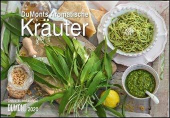 DuMonts aromatische Kräuter - Kalender 2020 - DuMont-Verlag - Küchenplaner mit Rezepten und Platz für Eintragungen - 42 cm x 29 cm (offen 42 cm x 58cm)