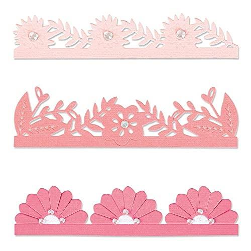 Sizzix Juego de Troqueles Thinlits 3PK Bordes Florales audaces por Olivia Rose, 665472, Multicolor, One Size