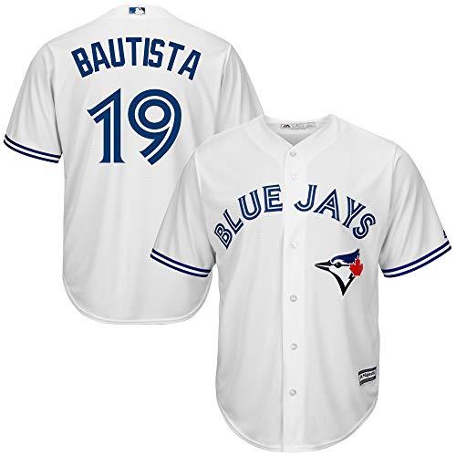 Outerstuff Jose Bautista Toronto Blue Jays White Youth 8-20 Cool Base Home Replica Jersey (Medium 10/12)