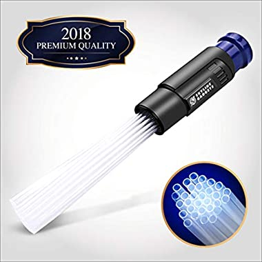 Vacuum Attachment Tool With Tiny Tubes, Cleaner Brush Flexible Suction, Dirt Remover And Dust Cleaning Great for Car/Pets/ Keyboards/Air Vent/Drawers Dust Daddy