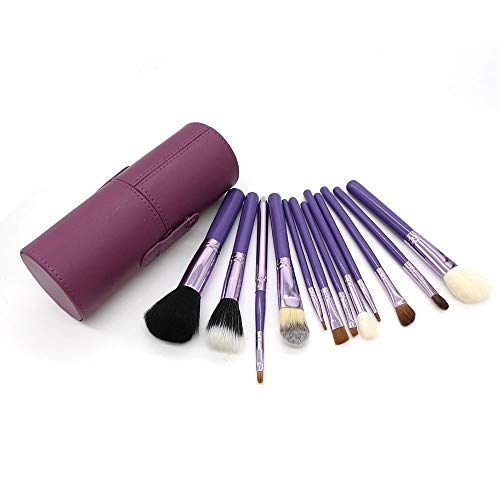 Pinceaux de maquillage avec étui pinceau Beauty Blender Cleaner Foundation Pinceau Ombre à paupières Eye-liner Pinceau à sourcils Brosse à maquillage XXYHYQ (Color : Violet, Size : Libre)