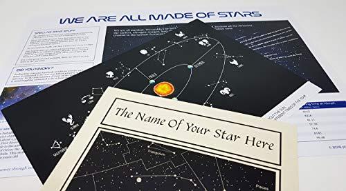 Name a Star Gift - Nomina una stella, set regalo con Swarovski a forma di cuore e cartellina elegante