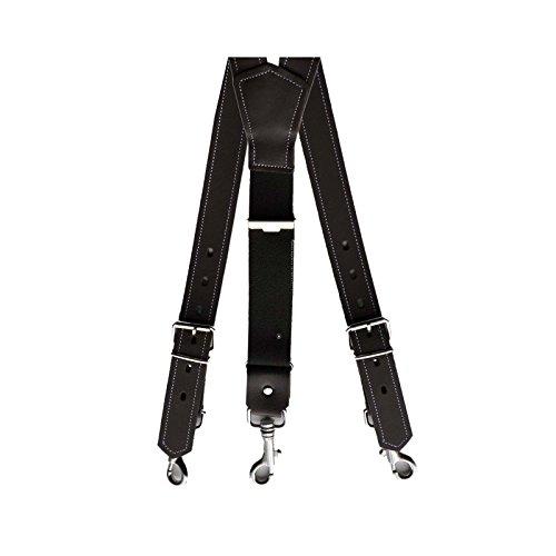 Dayneq Sie Bieten hier 1 St. Echt Leder Hosenträger ca. 3cm Breit mit Karabinerhaken-D-Braun-110cm