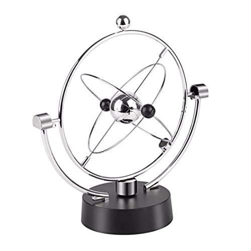XUSHEN-HU Magnetic Swing Kinetic Orbital Craft Desk Decoration Perpetual Balance Celestial Globe Newton Pendulum Home Ornaments,silver World Globe