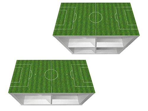 Stikkipix Fußballfeld Möbelfolie | KSWK04 | passend für das Regal KALLAX von IKEA - (Möbel Nicht inklusive)