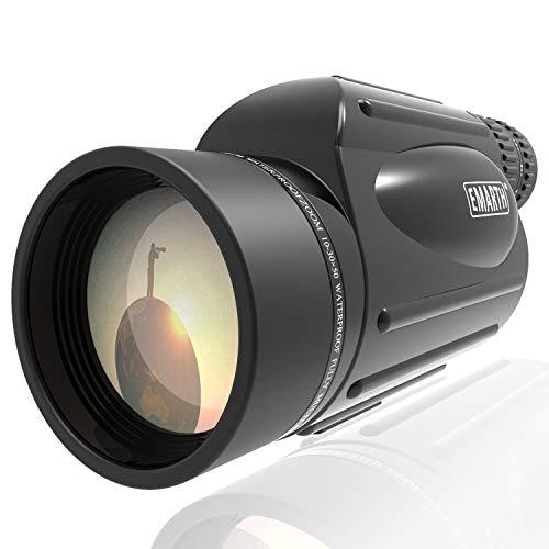 Emarth High Power 10-30X50 Zoom Monocular Telescope BAK4 Prism Waterproof Fog Proof Men Gifts for...