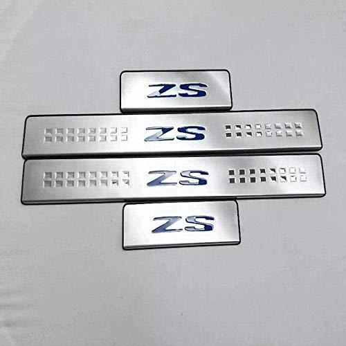 XLUCBS 4 Piezas Acero Inoxidable Protector Umbral Puerta Coche, para MG ZS 2017 2018 2019 Antideslizantes Resistente a Rayones Auto Styling Accesorios Pegatinas
