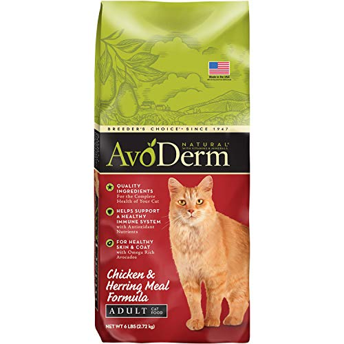 Avoderm Natural Chicken & Herring Meal Formula Dry Cat Food, 6-Pound