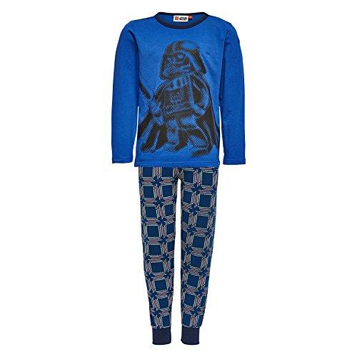 Lego Wear Jungen Lego Star Wars Darth Vader NICOLAI 718-Schlafanzug Zweiteiliger Schlafanzug, Blau (Dark Blue 571), 110