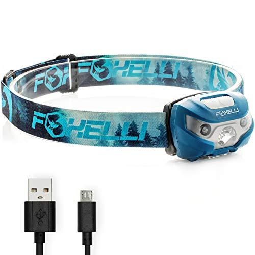 Amazon.com | Foxelli USB Rechargeable Headlamp Flashlight