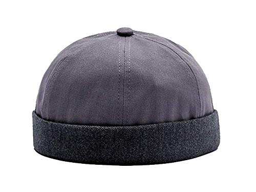 TESOON Unisex Cotton Brimless Beanie Hat Adjustable Trendy Skull Cap Sailor Cap