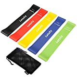 Letsfit Resistance Bands, Exercise Bands Set with Instruction Guide & Carry Bag, Strength Workout Bands for Fitness Home Gym