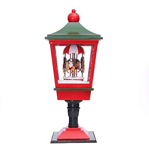 SYXX Adornos de Navidad del faro del molino de viento, el centro comercial del hotel Bar Set Puntales arreglos Decoración Lámpara de piso Luces de Navidad del poste de nieve de música de Pendulum Luce
