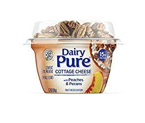 DairyPure 2% Lowfat Cottage Cheese Mix-ins with Peaches and Pecans 5.3 OZ (150g)
