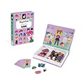 Janod - Magneti'Book Disfraces juguete educativo, Niñas (J02718) , color/modelo surtido