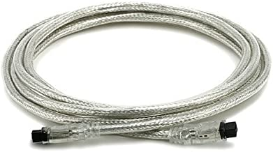 Monoprice 10-Feet 9 PIN/ 9PIN BETA FireWire 800, FireWire 800 Cable, Clear (100335)