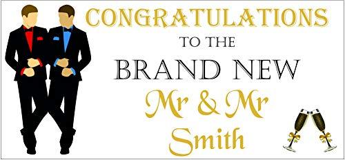 2 banners personalizados para bodas con el mismo sexo Mr. & Mr 01