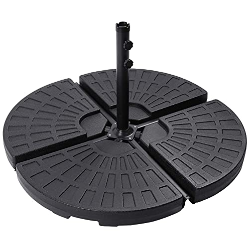 Parkland Set of 4 Cantilever Banana Parasol Umbrella Base Stand Weights - Can be Filled with Water or Sand