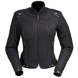 Bangla Damen Motorrad Jacke Motorradjacke Textil Schwarz kurz XL 42