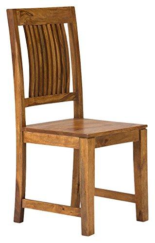 massivum Esszimmer-Stuhl Texas 43x100x43 cm mit aus Palisander und Akazie Massiv-Holz natur lackiert