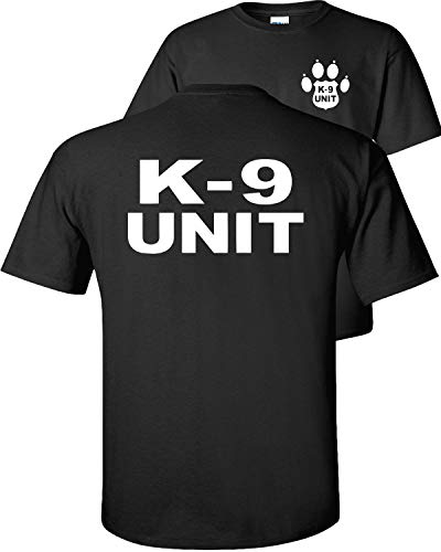 Fair Game K-9 Unit Police Officer T-Shirt K9 Handler Uniform Law Enforcement Duty v2-Black-L