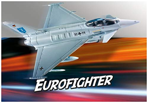 Revell REV-06452 Build & Play Eurofighter Typhoon Toys, Mehrfarbig, 1/100
