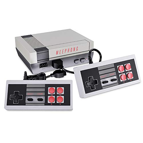 MEEPHONG Retro Game Console AV Output NES Console Builtin Hundreds of Classic Video Games
