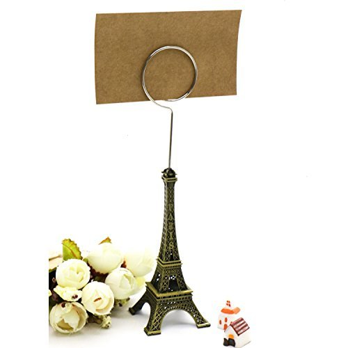 Pack of 6 Eiffel Tower Style Card Holder Memo Clip For Note Message Clip Photo Display Wedding Table Name Home Shops Decoration