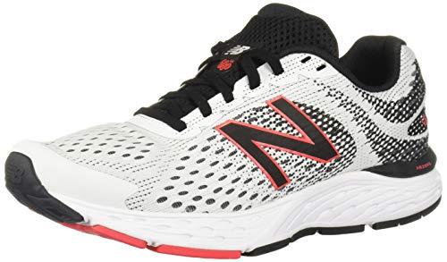 New Balance Men's 680v6 Cushioning Running Shoe, White/Black/Black, 7 XXW US