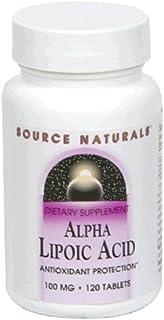 Source Naturals Alpha Lipoic Acid 100mg, 120 Tablets (Pack of 2)