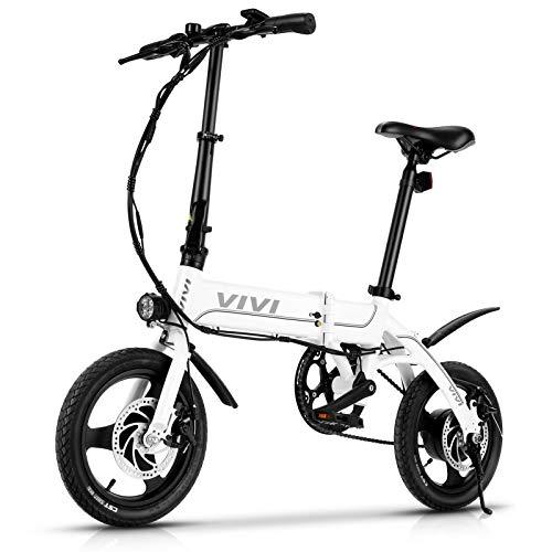 VIVI Bicicleta Eléctrica Plegable, 14' Bici Electrica 350W Urbana E-Bike Bicicletas Eléctricas con Batería Extraíble De 7,8Ah, 3 Modos de Trabajo