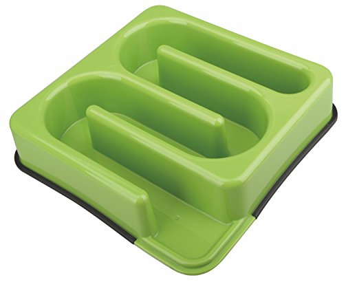 M-PETS Labyrinth Slow Feed Bowl Square Light Green pour Chien Vert