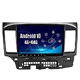 SYGAV Android 10 Car Stereo for 2008-2013 Mitsubishi Lancer EVO X with Carplay OEM Rockford Fosgate AMP Radio GPS Navigation Head Unit