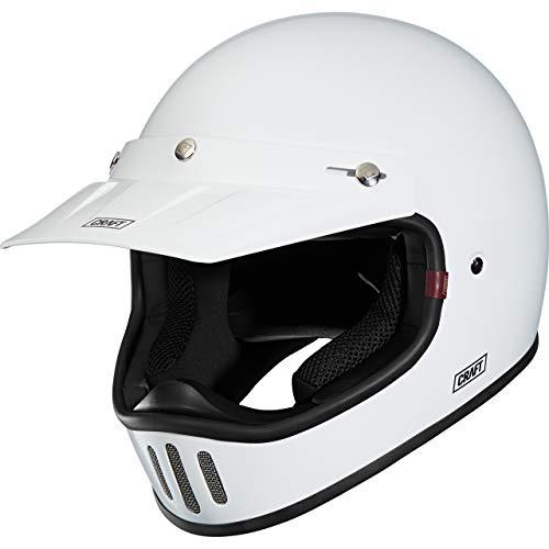 Craft Motocross Helm Motorradhelm Cross Helm Enduro Helm MX-Line 1.0 - Retro 3C White L, Unisex, Cross/Offroad, Ganzjährig, weiß