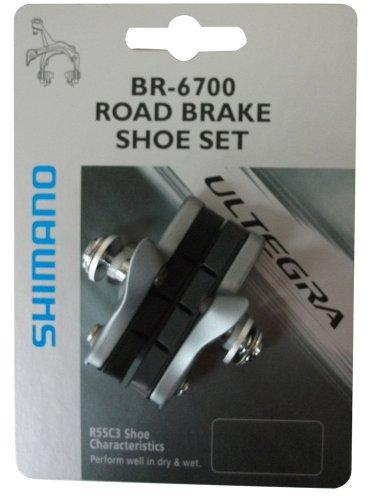 Shimano Bremsschuhsatz R55C3BR6700 Bremsschuh, schwarz, Einheitsgröße