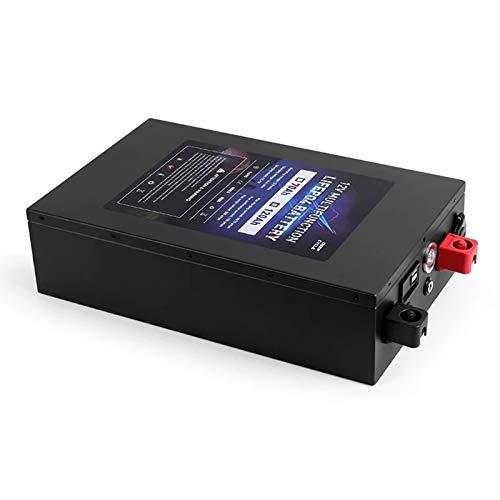OANCO Batería Portátil De Fosfato De Hierro Y Litio De 12V 120Ah LiFePo4,con Cargador De 10A,Libre De Impuestos