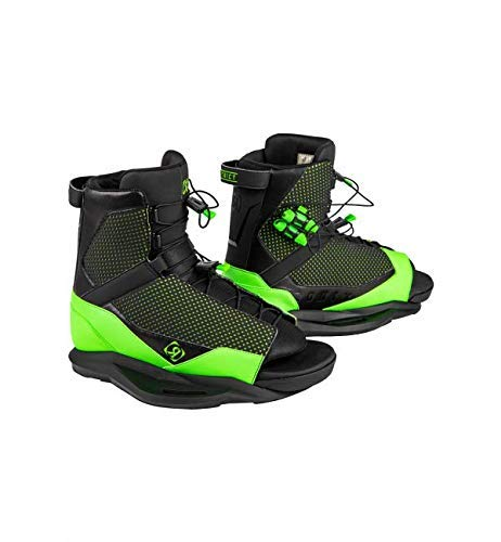 Ronix District Wakeboard Boots - Black/Green - 5-8.5