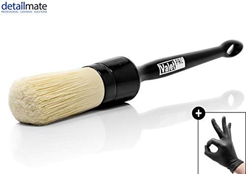 detailmate ValetPRO Ultra Soft Chemical Resistant Large Brush 18 - Ultra Soft Langer Pinsel chemieresisten BRU34 + + Nitril Schutzhandschuh
