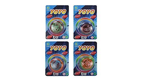 jameitopJoJo Set: 4 Stück Yo Yo mit Kupplung / Freilauf und LED Licht 5,5 cm Pack