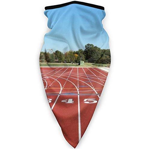 Running Track Field Sport Paattern Máscara de boca al aire libre a prueba de viento máscara de esquí máscara escudo bufanda bandaMen mujer