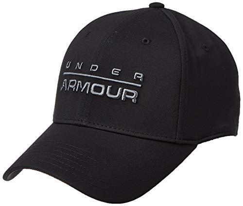 Under Armour Men's Wordmark Str Cap Gorra, Hombre, Negro (Black/Pitch Gray 001), S/M