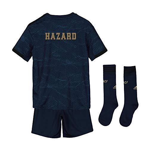 Conjunto Infantil - Dorsal Hazard - 7-14 años Segunda equipación Adidas Real Madrid 2019 2020