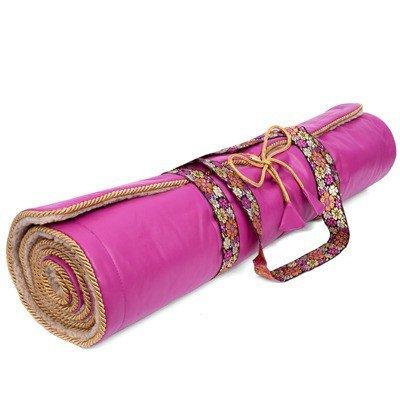 Holistic Silk Yoga Rug Mat - pink