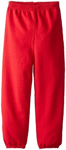 Hanes Big Boys' Eco Smart Fleece Pant, Deep Red, Medium