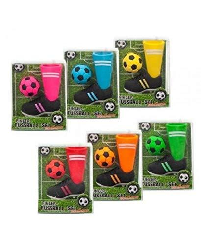 RADIERER Finger-Fußball 2er Set, 6 verschiedene Farben. Preis pro Set