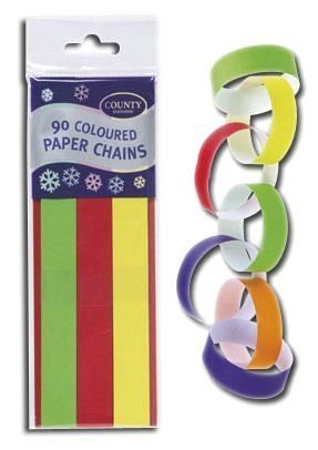 90 Paper Chain Strips (Makes Over 5m Chain)